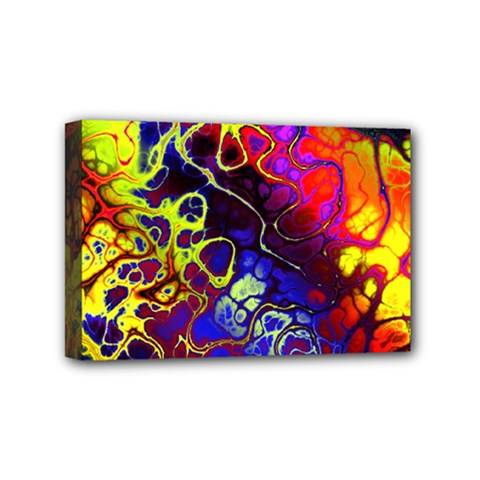 Awesome Fractal 35c Mini Canvas 6  X 4  by MoreColorsinLife
