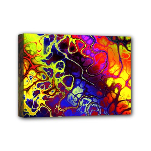 Awesome Fractal 35c Mini Canvas 7  X 5  by MoreColorsinLife