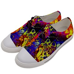 Awesome Fractal 35c Men s Low Top Canvas Sneakers by MoreColorsinLife