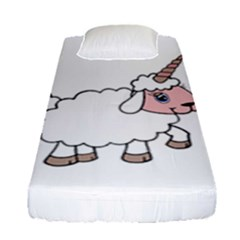 Unicorn Sheep Fitted Sheet (single Size) by Valentinaart