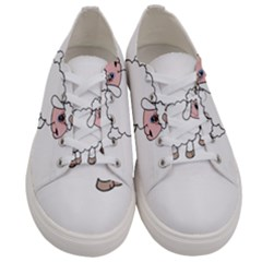 Unicorn Sheep Men s Low Top Canvas Sneakers