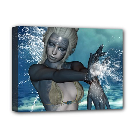 The Wonderful Water Fairy With Water Wings Deluxe Canvas 16  X 12   by FantasyWorld7