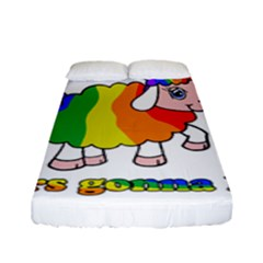 Unicorn Sheep Fitted Sheet (full/ Double Size) by Valentinaart