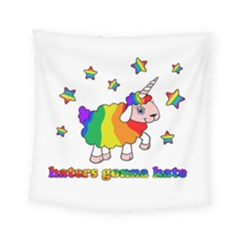 Unicorn Sheep Square Tapestry (small) by Valentinaart