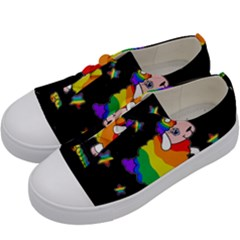 Unicorn Sheep Kids  Low Top Canvas Sneakers by Valentinaart