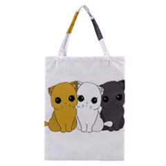 Cute Cats Classic Tote Bag by Valentinaart