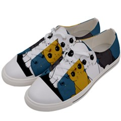 Cute Cats Women s Low Top Canvas Sneakers by Valentinaart