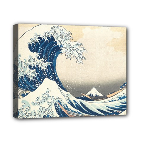 The Classic Japanese Great Wave Off Kanagawa By Hokusai Canvas 10  X 8  by PodArtist