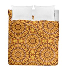 Golden Mandalas Pattern Duvet Cover Double Side (full/ Double Size) by linceazul