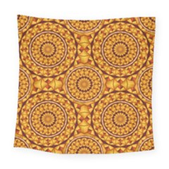 Golden Mandalas Pattern Square Tapestry (large) by linceazul