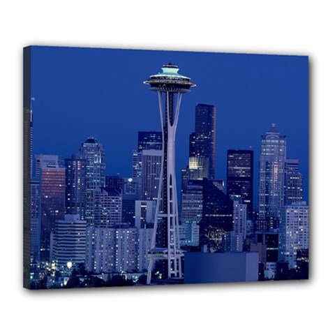 Space Needle Seattle Washington Canvas 20  X 16