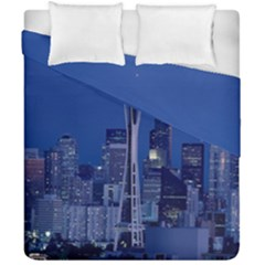 Space Needle Seattle Washington Duvet Cover Double Side (california King Size) by Nexatart