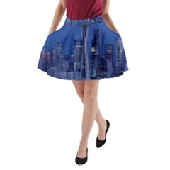 Space Needle Seattle Washington A Line Pocket Skirt by Nexatart