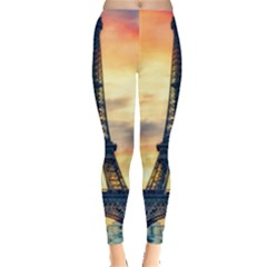 Eiffel Tower Paris France Landmark Leggings