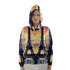 Eiffel Tower Paris France Landmark Hooded Wind Breaker (women)