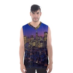 San Francisco California City Urban Men s Basketball Tank Top