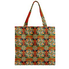 Eye Catching Pattern Zipper Grocery Tote Bag by linceazul