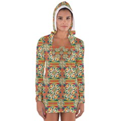 Eye Catching Pattern Long Sleeve Hooded T Shirt by linceazul