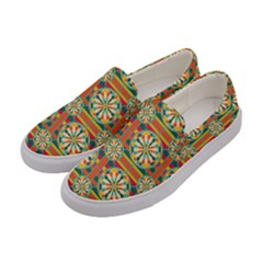 Eye Catching Pattern Women s Canvas Slip Ons by linceazul
