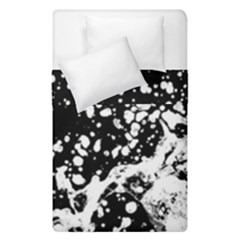 Black And White Splash Texture Duvet Cover Double Side (single Size) by dflcprints