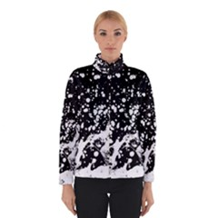 Black And White Splash Texture Winterwear by dflcprints