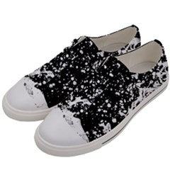 Black And White Splash Texture Men s Low Top Canvas Sneakers by dflcprints