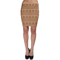 Arcs Pattern Bodycon Skirt by linceazul