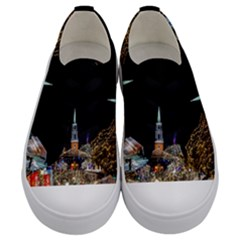 Church Decoration Night Kids  Low Top Canvas Sneakers