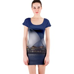 Landmark Sydney Opera House Short Sleeve Bodycon Dress by Nexatart
