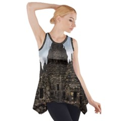 Prambanan Temple Indonesia Jogjakarta Side Drop Tank Tunic by Nexatart
