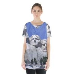 Mount Rushmore Monument Landmark Skirt Hem Sports Top
