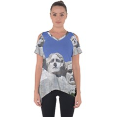 Mount Rushmore Monument Landmark Cut Out Side Drop Tee