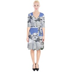 Mount Rushmore Monument Landmark Wrap Up Cocktail Dress