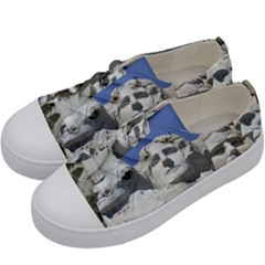 Mount Rushmore Monument Landmark Kids  Low Top Canvas Sneakers by Nexatart