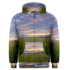 Landscape Sunset Sky Sun Alpha Men s Zipper Hoodie