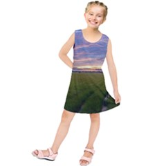 Landscape Sunset Sky Sun Alpha Kids  Tunic Dress