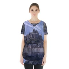 Mont Saint Michel France Normandy Skirt Hem Sports Top by Nexatart