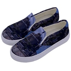 Mont Saint Michel France Normandy Kids  Canvas Slip Ons by Nexatart