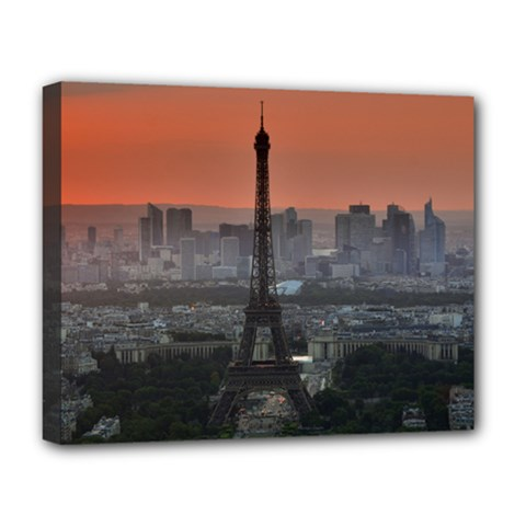 Paris France French Eiffel Tower Deluxe Canvas 20  X 16   by Nexatart