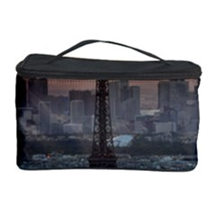 Paris France French Eiffel Tower Cosmetic Storage Case by Nexatart