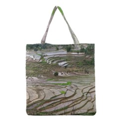 Rice Fields Terraced Terrace Grocery Tote Bag by Nexatart
