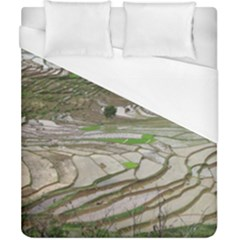 Rice Fields Terraced Terrace Duvet Cover (california King Size) by Nexatart