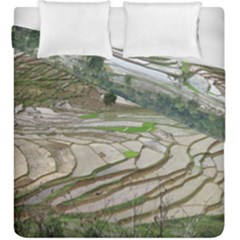 Rice Fields Terraced Terrace Duvet Cover Double Side (king Size) by Nexatart