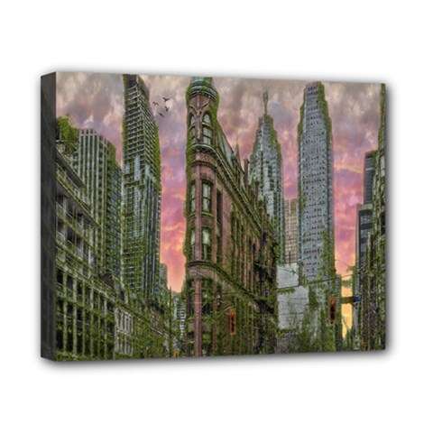 Flat Iron Building Toronto Ontario Canvas 10  X 8