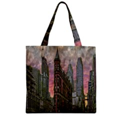 Flat Iron Building Toronto Ontario Zipper Grocery Tote Bag by Nexatart