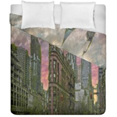 Flat Iron Building Toronto Ontario Duvet Cover Double Side (california King Size)