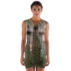 Flat Iron Building Toronto Ontario Wrap Front Bodycon Dress