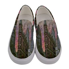 Flat Iron Building Toronto Ontario Women s Canvas Slip Ons