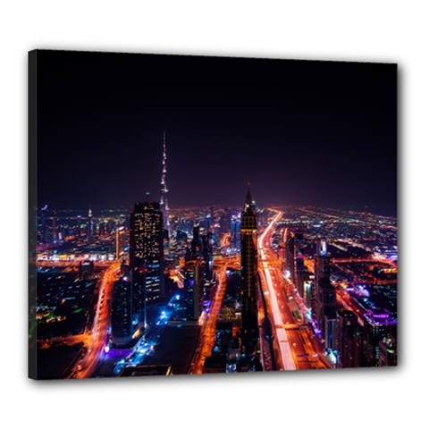 Dubai Cityscape Emirates Travel Canvas 24  X 20  by Nexatart