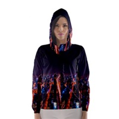 Dubai Cityscape Emirates Travel Hooded Wind Breaker (women)